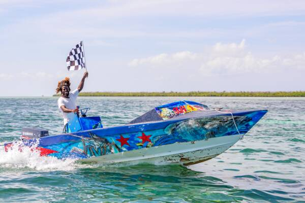 winner of the conch boat race at Fisherman's Day on South Caicos