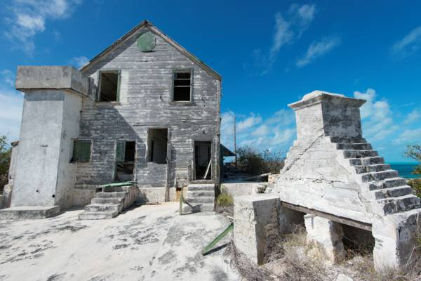 the old District Commissioners mansion on South Caicos