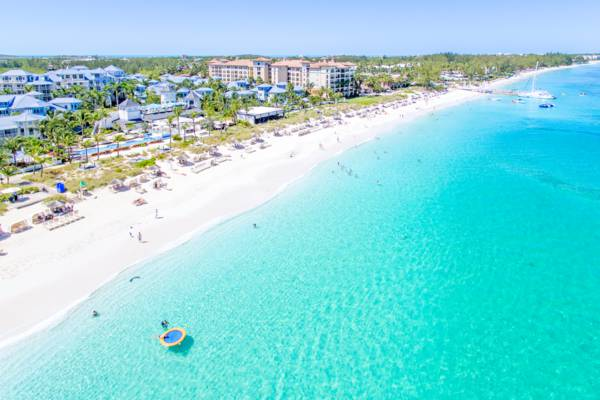 aerial photo of Beaches Resort on Grace Bay