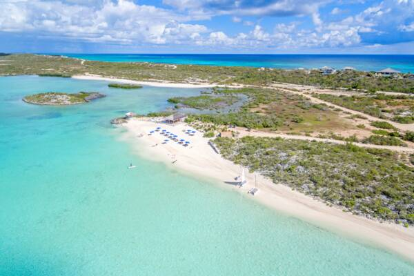 Bell Sound National Park and the Sailrock real estate project on South Caicos