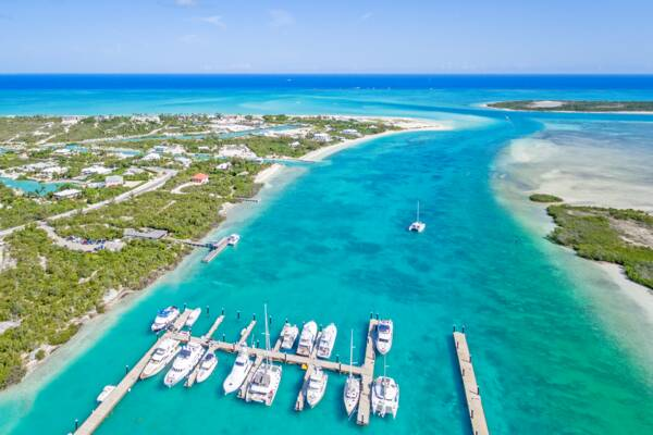 Blue Haven Marina at Leeward Channel on Providenciales, Turks and Caicos
