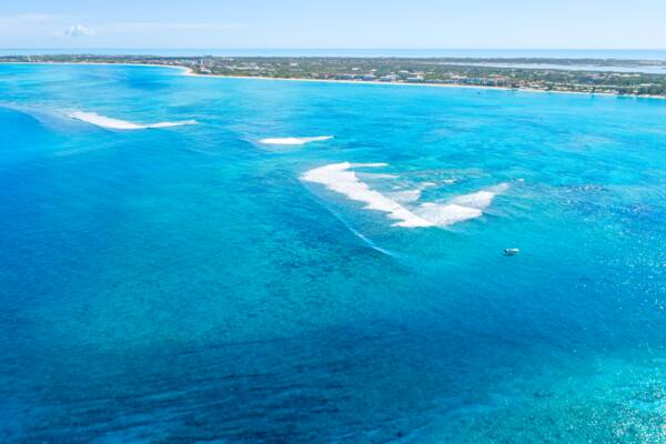 barrier reef and Sellar's Cut in the Turks and Caicos