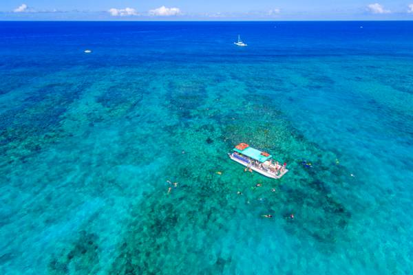 Turks and Caicos snorkel boat charter at Leeward Cut, Providenciales