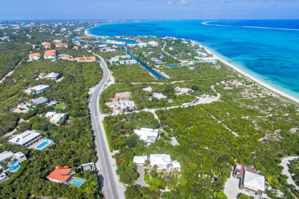 aerial photo of the Bight and Turtle Cove on Providenciales