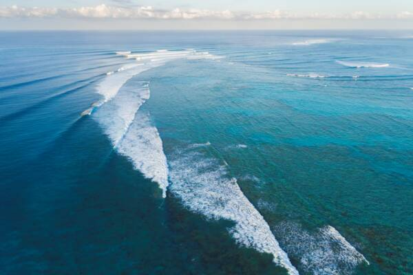 waves breaking on the barrier reef off Northwest Point on Provideciales