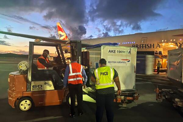 arrival of the Pfizer-BioNTech COVID-19 vaccine in Turks and Caicos
