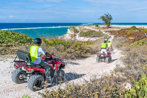 ATV tour on the coastal cliff path at the Grand Turk Lighthouse