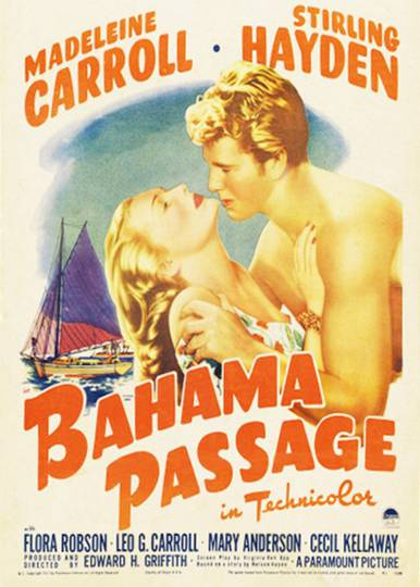 poster for the 1941 Technicolor film Bahamas Passage