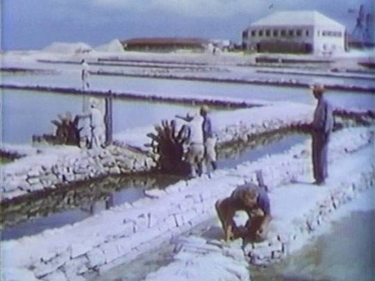still of the Salt Cay salinas from the Bahamas Passage movie