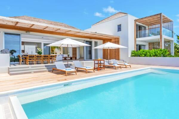 pool at a Beach Enclave luxury villa
