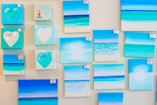 ocean scene paintings at Anna's Art Gallery