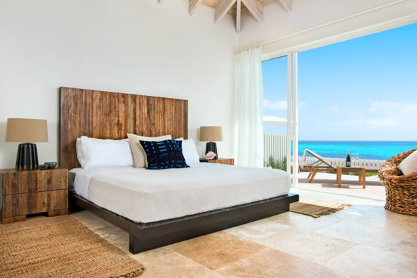 ocean view bedroom at a villa at Sailrock on South Caicos