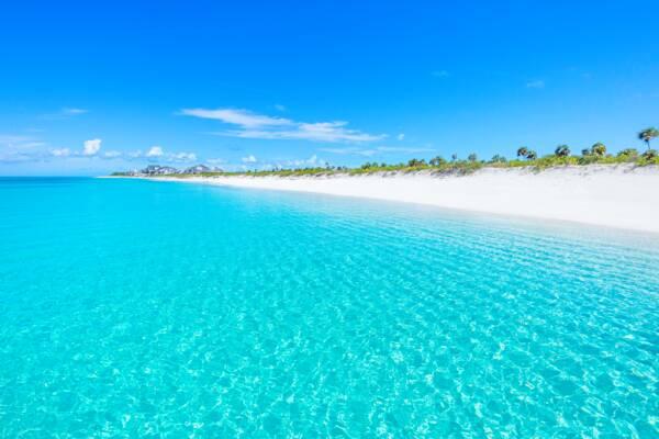 Bernard Bay beach on West Caicos in the Turks and Caicos