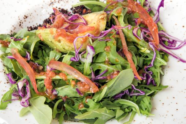 salad from Coralli restaurant in Turks and Caicos