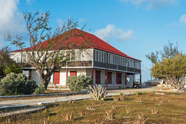 the Brown House villa at Balfour Town on Salt Cay