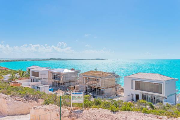 Wymara Villas under construction at Turtle Tail on Providenciales
