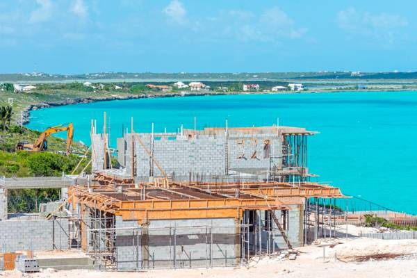 luxury villa construction site at Turtle Tail on Providenciales