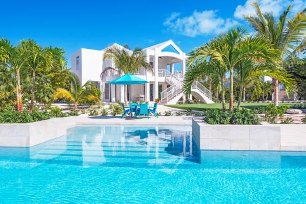 luxury villa and pool on Provo