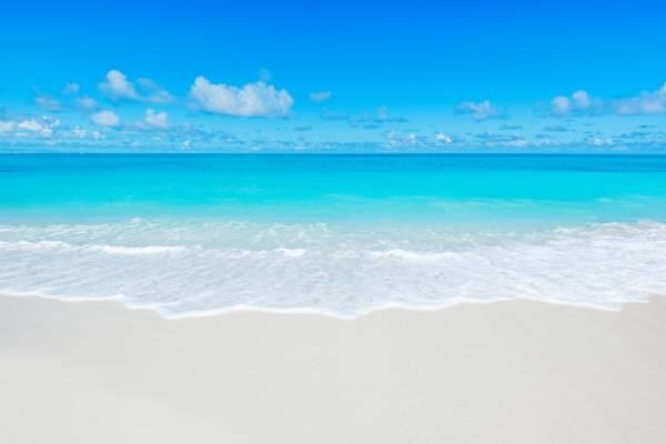 beautiful water and beach at Grace Bay