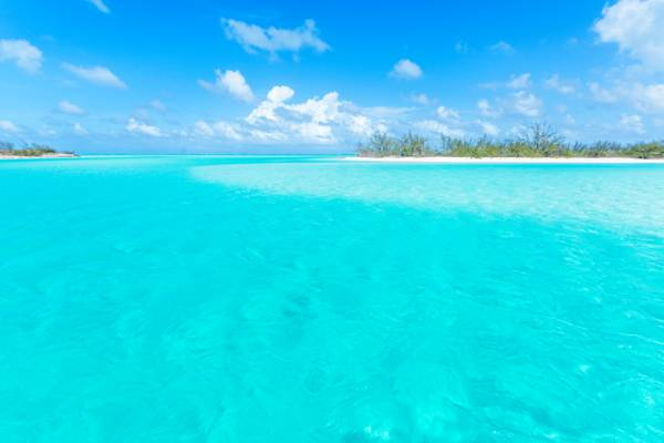 channel and beach in the Caicos Islands