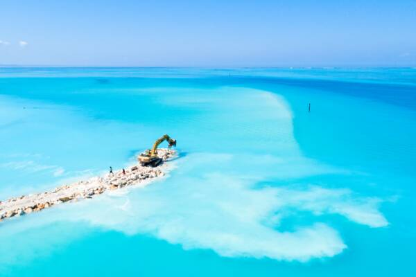 coastal engineering and jetty construction in Turks and Caicos
