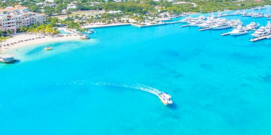 aerial view of Blue Haven Resort in Turks and Caicos