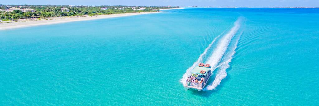party boat excursion off of Grace Bay