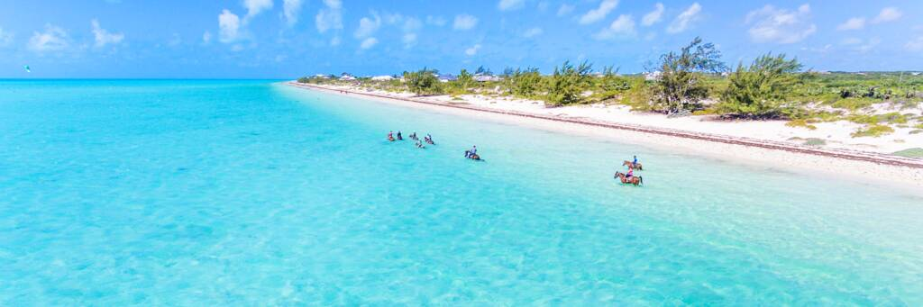 horseback riding in the Turks and Caicos