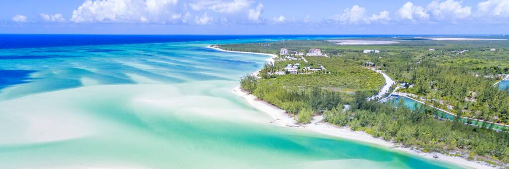 aerial view of Sandy Point at North Caicos