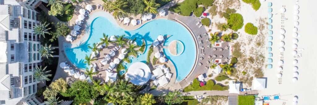swimming pool at The Palms resort in Turks and Caicos