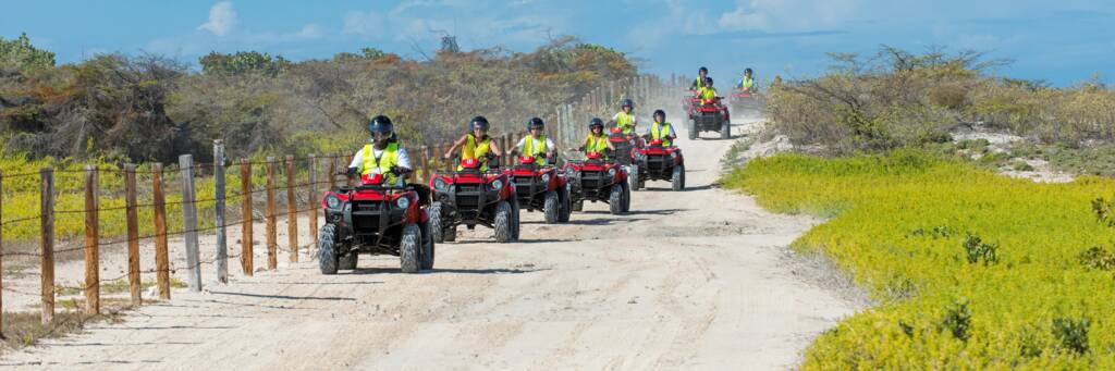 ATVs in the wetlands on Grand Turk
