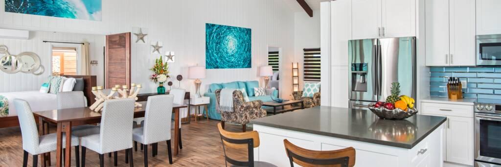 living room at Bashert Villa in Chalk Sound