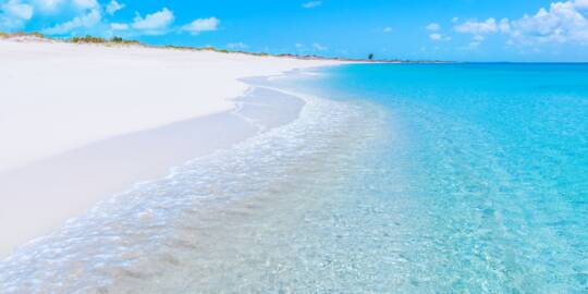 secluded beach at Pine Cay and Water Cay