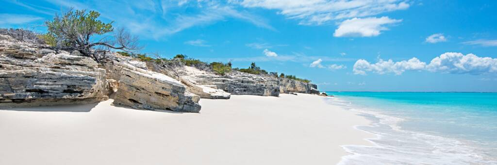 semi-lithified marine limestone cliffs on the northern Water Cay beach