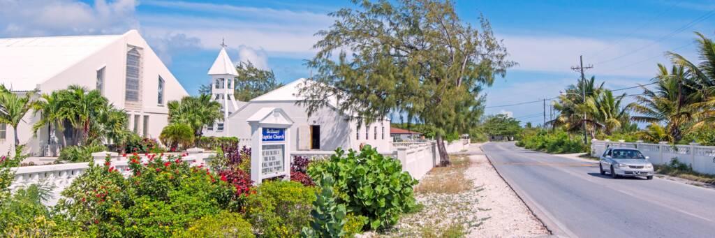Bethany Baptist Church on the coastal Blue Hills Road