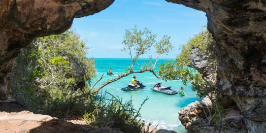 jet ski tour at West Harbour Bluff in the Turks and Caicos