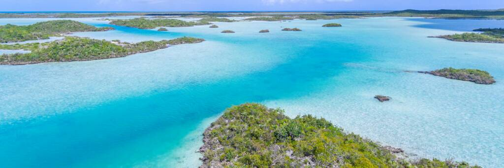 Chalk Sound National Park in the Turks and Caicos