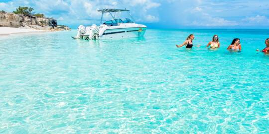 private boat charter at Water Cay