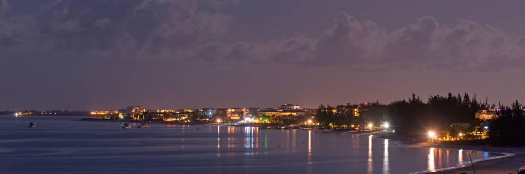 Grace Bay resorts at night