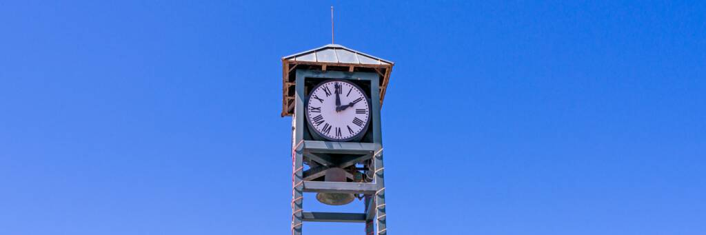 small clock tower on Grand Turk