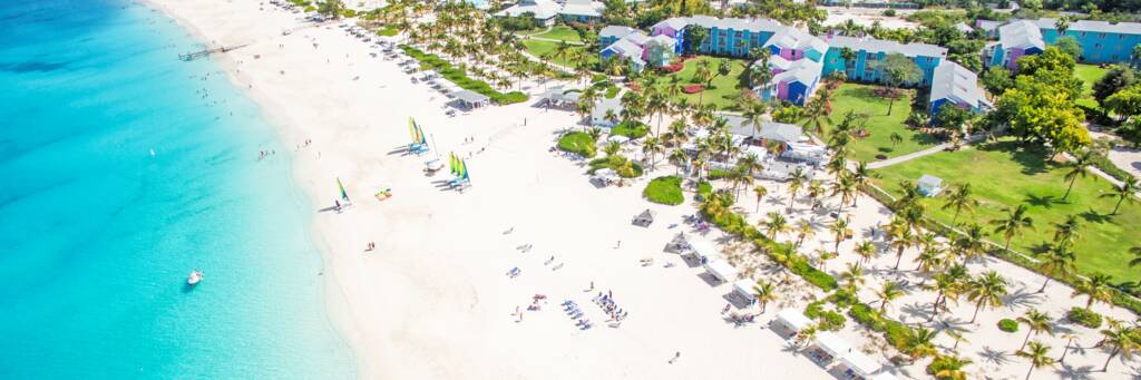 aerial view of Club Med Resort on Grace Bay