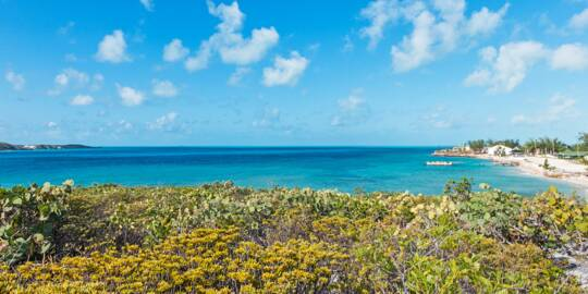 Cockburn Harbour as seen from Tucker Hill on South Caicos