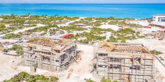 luxury homes being built in the Turks and Caicos