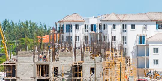 West Bay Club and Gansevoort Resort on Grace Bay under construction