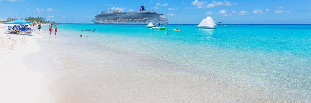 cruise ship at Grand Turk beach in  the Turks and Caicos