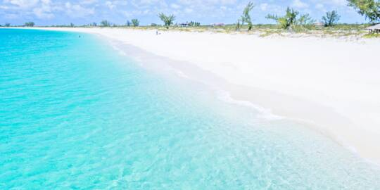 the beach at Pine Cay