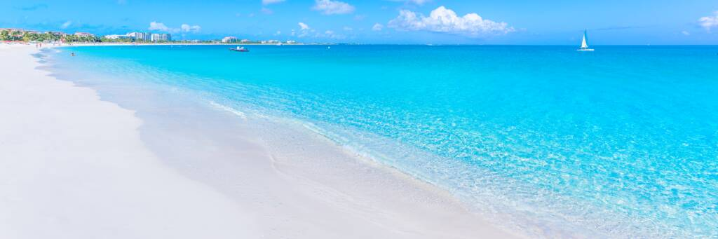 Grace Bay Beach at Providenciales, Turks and Caicos.