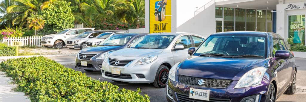 Car rental agency at Grace Bay in the Turks and Caicos.