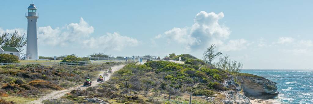 the Grand Turk Lighthouse and coastal path with ATV tour