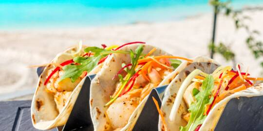 fish tacos in Turks and Caicos